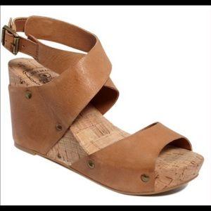 EUC Lucky Brand Moran Wedge Sandals